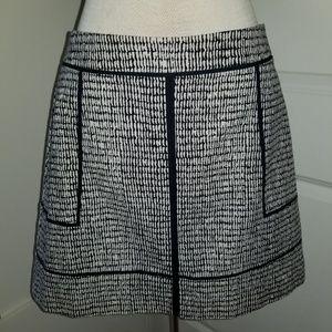 Ann Taylor black and white skirt A line regular